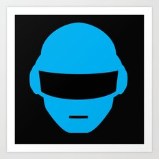 Daft Punk Thomas Bangalter Helmet Art Print