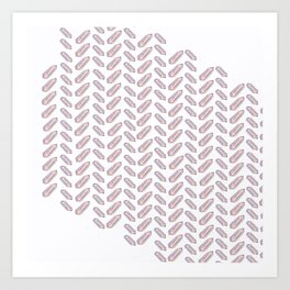 Quartz Fishbone Art Print