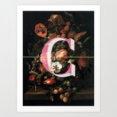 Letter C Art Print