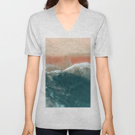 Tropical Drone Beach Photography Unisex V-Neck