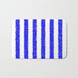 Blue Striped Bath Mat