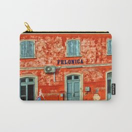 Felonica Train Station – Italy – Painting by Liane Wright Carry-All Pouch
