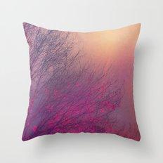 Pink Purple Autumn Dusk Throw Pillow