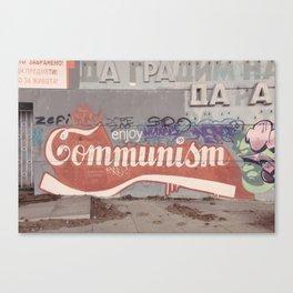 Enjoy communism grafiti Canvas Print