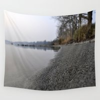 marine Wall Tapestries featuring shore marine by  Agostino Lo Coco