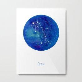 Constellation Gemini Metal Print