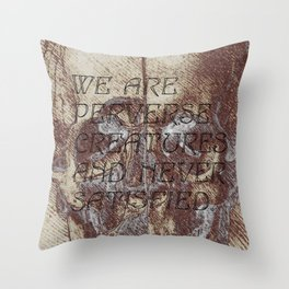 satisfaction. Throw Pillow