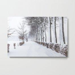 Snow way Metal Print