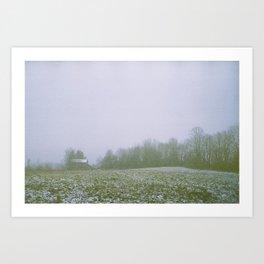 Snow On The Farm Art Print