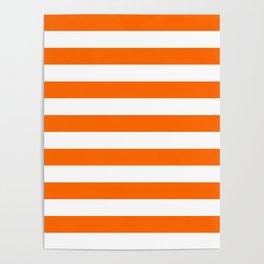 Orange Stripes Poster