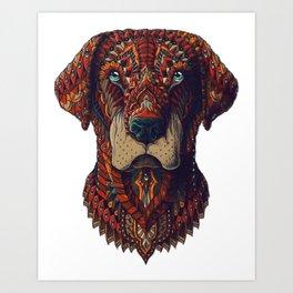 Labrador (Color Version) Art Print