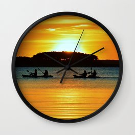 Two Tandems Wall Clock