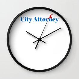 City Attorney Ninja in Action Wall Clock