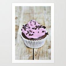 pink muffin Art Print