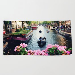 in love with Amster  Beach Towel