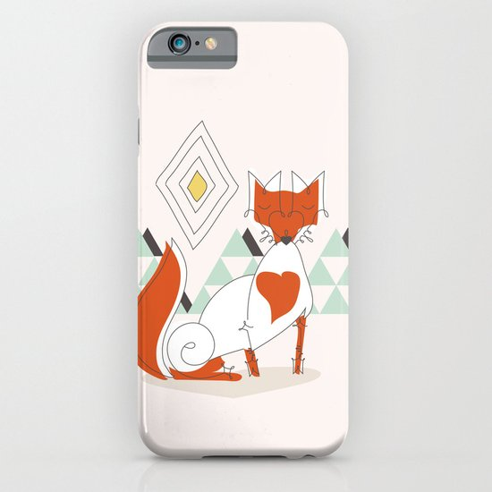 Fox in the mountain iPhone & iPod Case