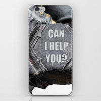 warhammer iPhone & iPod Skins featuring Medieval knight with a warhammer by digital2real