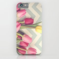 Tulips and Chevrons iPhone 6s Slim Case