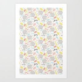 Hedgehogs Art Print