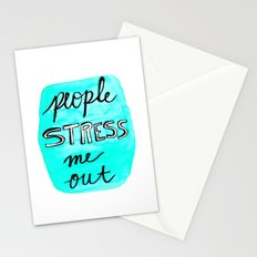People Stress Me Out Stationery Cards