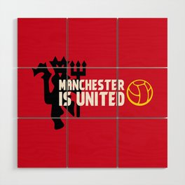 Manchester Is United Wood Wall Art