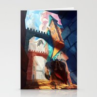 dragons Stationery Cards featuring Dragons by youcoucou