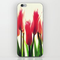 tulips iPhone & iPod Skins featuring Tulips by 2sweet4words Designs