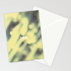 Bokeh. Stationery Cards