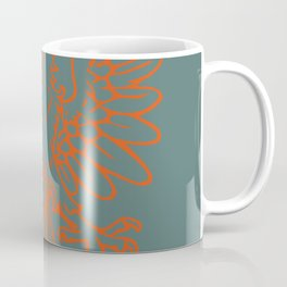 red double-headed eagle on gray background Coffee Mug