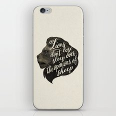 Lions don't lose sleep over the opinions of sheep iPhone & iPod Skin