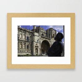 Camino Pilgrim Leon Spain Framed Art Print