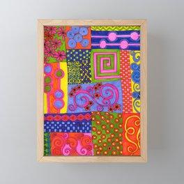 A Bit of Patchwork Framed Mini Art Print