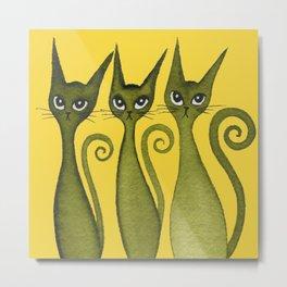 Merrimack Whimsical Cats Metal Print