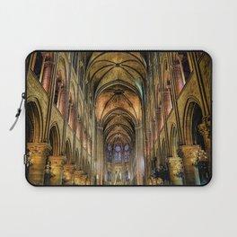 Notre Dame de Paris interior Laptop Sleeve