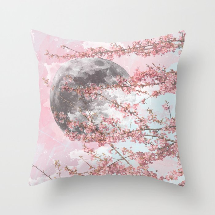 Spring Moon Throw Pillow