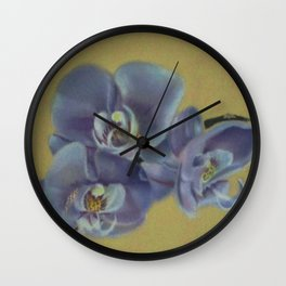 Purple Orchids Wall Clock