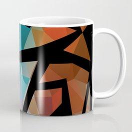 Abstract background of triangles polygon print. Coffee Mug