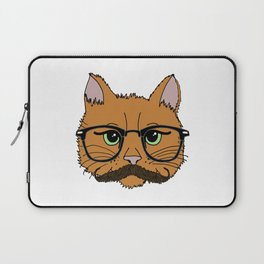 Mustache Cat Laptop Sleeve