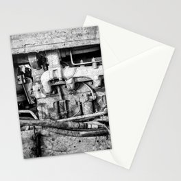 Vintage Engine Machine Block Grunge Grime Stationery Cards