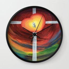 Jesus Hug Wall Clock