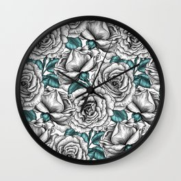 White roses for you Wall Clock