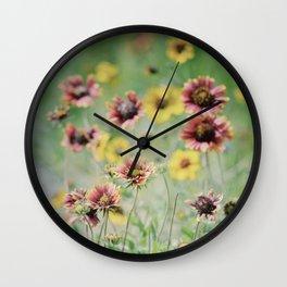 Sunshine at my feet Wall Clock