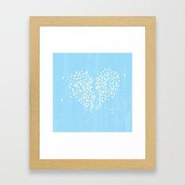 Broken Heart of Birds Framed Art Print