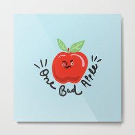 One Bad Apple - cute kawaii funny character illustration Metal Print
