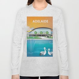 Adelaide, Australia - Skyline Illustration by Loose Petals Long Sleeve T-shirt