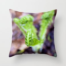 Fiddlehead II Throw Pillow