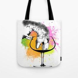 Wino Dino Tote Bag