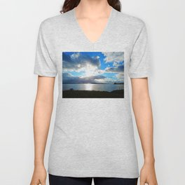 Three Rivers view in Georgetown PEI Unisex V-Neck