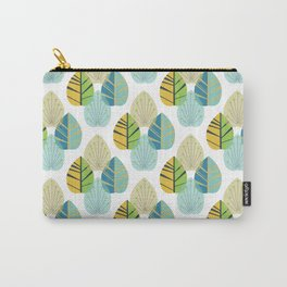 Mid Century Modern Leaves Gold Carry-All Pouch