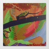 pain Canvas Prints featuring Pain by ErikMcManusInc.